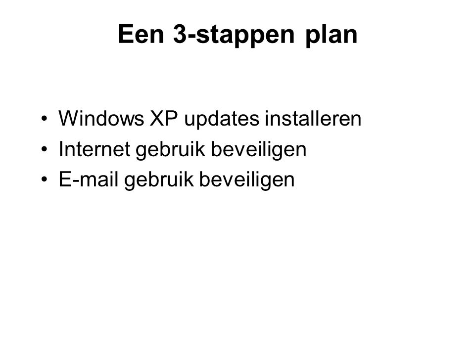 Een 3-stappen plan Windows XP updates installeren