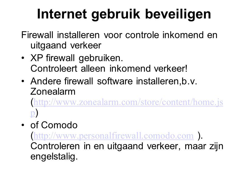 Internet gebruik beveiligen