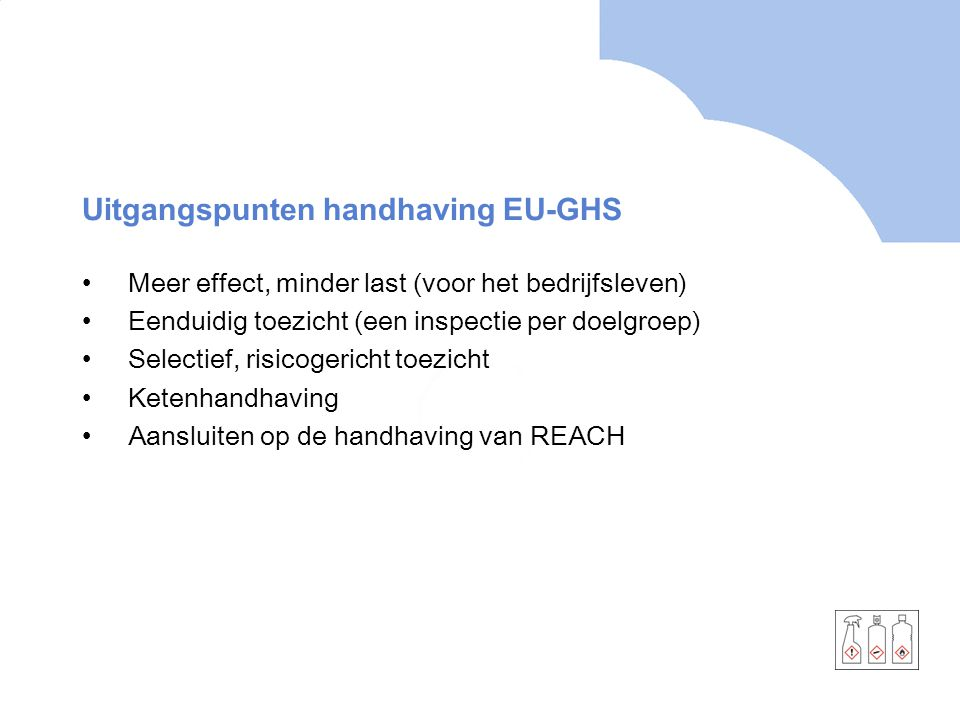 Uitgangspunten handhaving EU-GHS