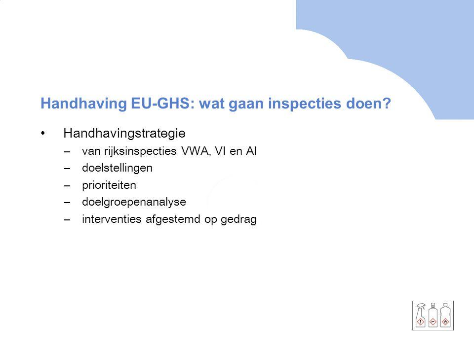 Handhaving EU-GHS: wat gaan inspecties doen