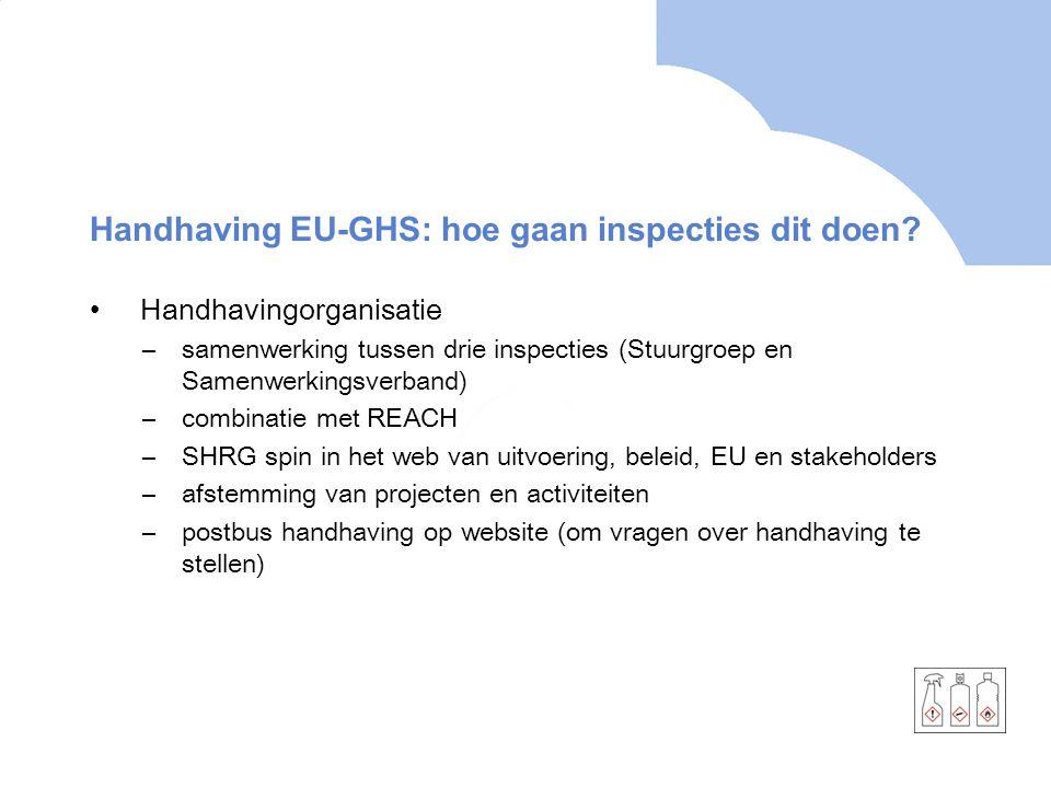 Handhaving EU-GHS: hoe gaan inspecties dit doen
