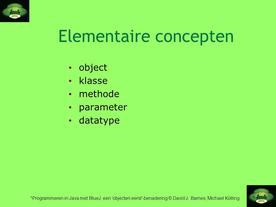 Elementaire concepten