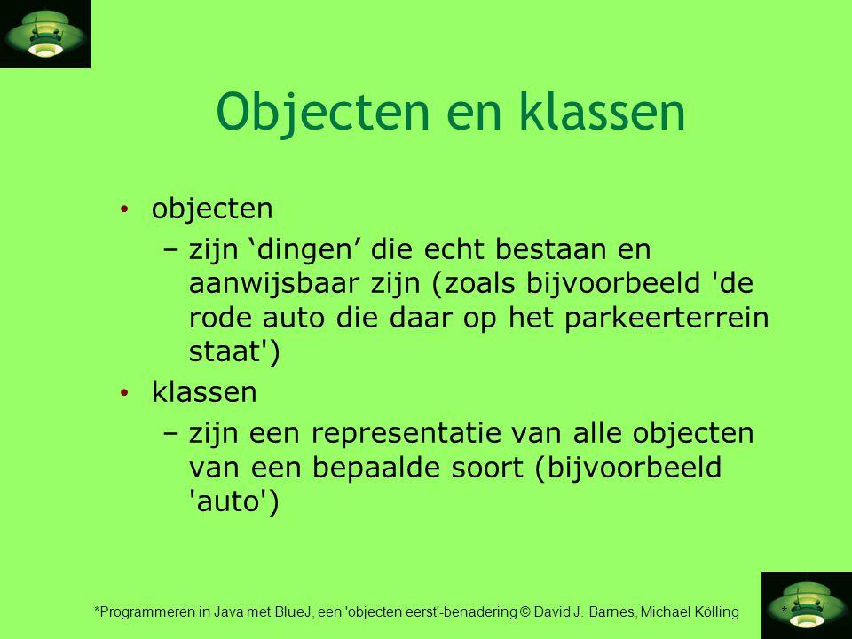 Objecten en klassen objecten