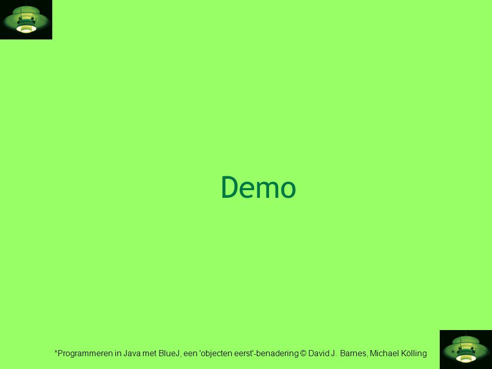 Demo Here, I start discussing objects and classes. I talk to the students.