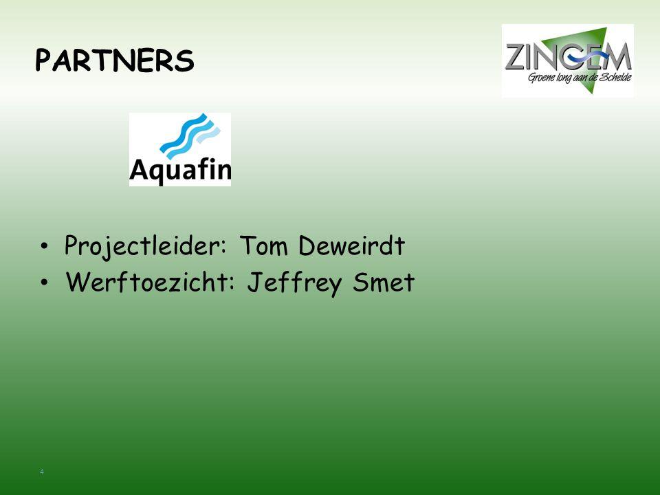 PARTNERS Projectleider: Tom Deweirdt Werftoezicht: Jeffrey Smet