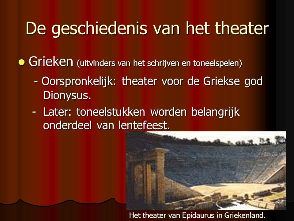 De geschiedenis van het theater