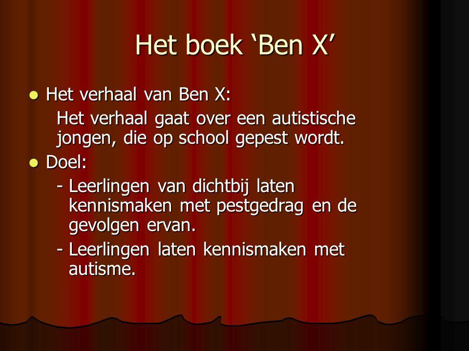 Het boek 'Ben X' Het verhaal van Ben X: