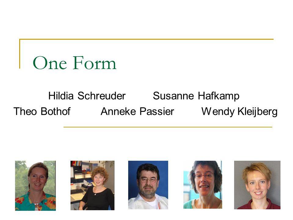 One Form Hildia Schreuder Susanne Hafkamp