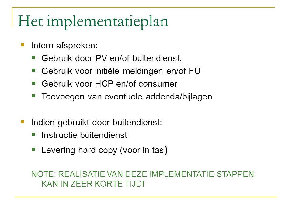 Het implementatieplan