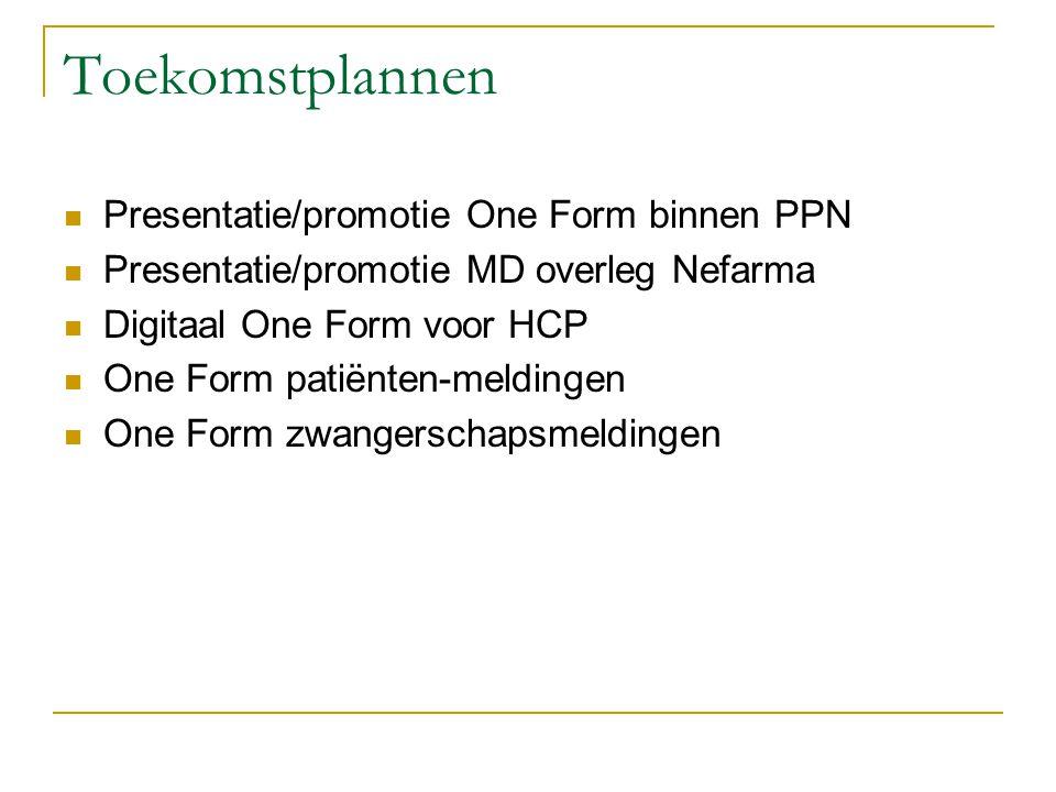 Toekomstplannen Presentatie/promotie One Form binnen PPN