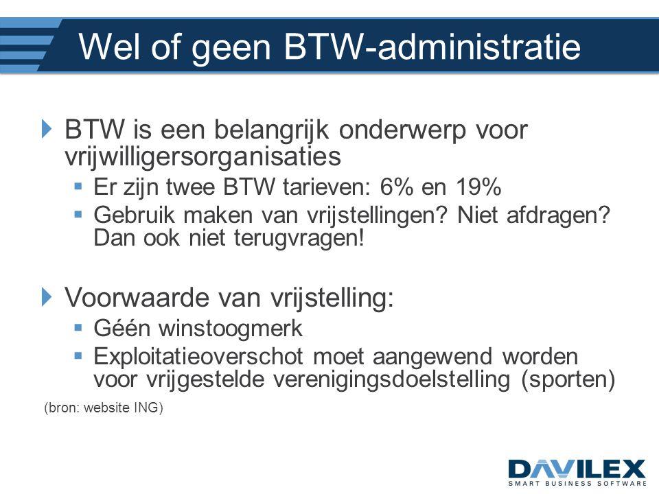 Wel of geen BTW-administratie