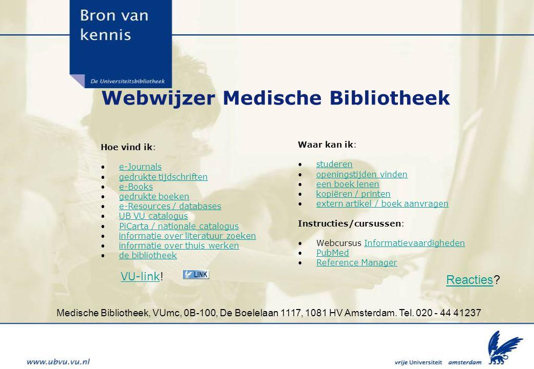 Webwijzer Medische Bibliotheek