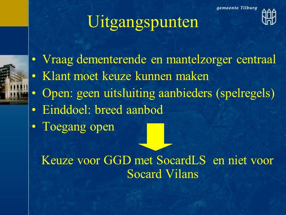 Keuze voor GGD met SocardLS en niet voor Socard Vilans