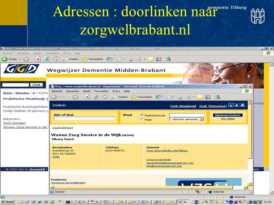 Adressen : doorlinken naar zorgwelbrabant.nl