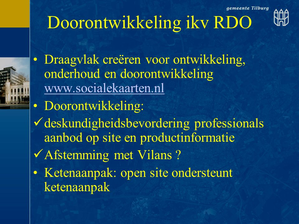 Doorontwikkeling ikv RDO