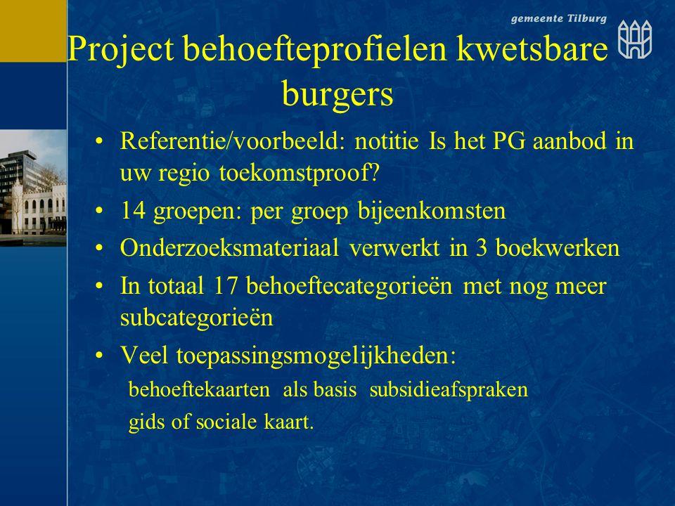 Project behoefteprofielen kwetsbare burgers
