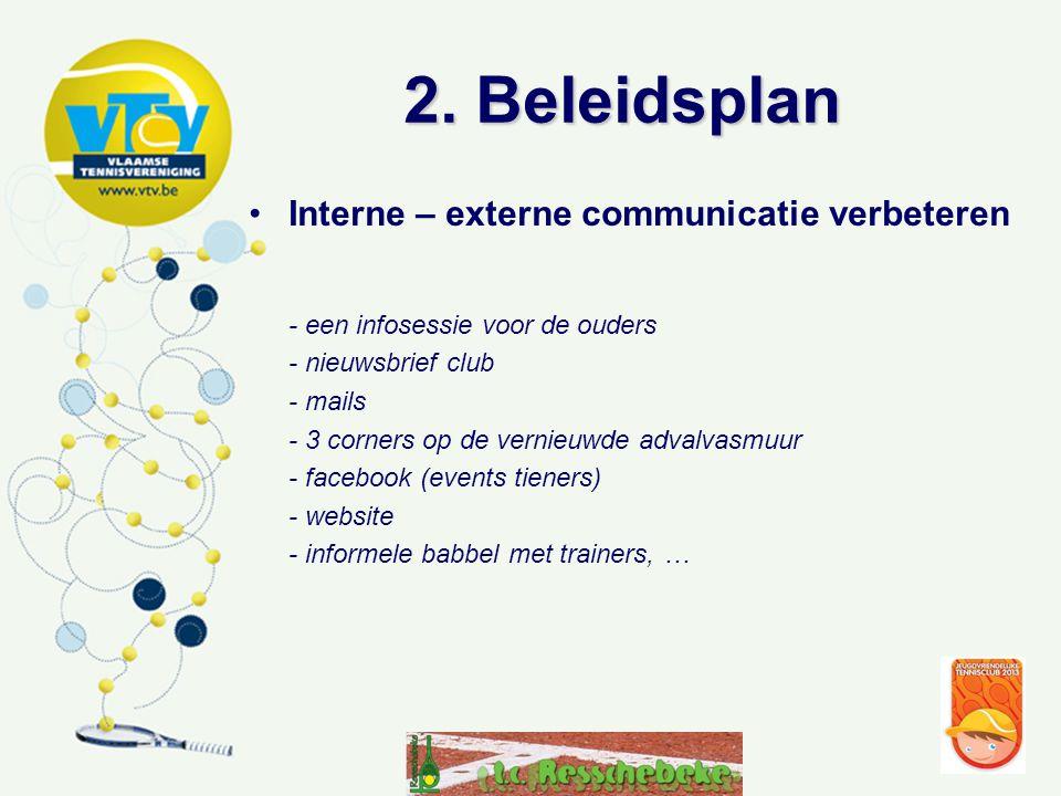 2. Beleidsplan Interne – externe communicatie verbeteren