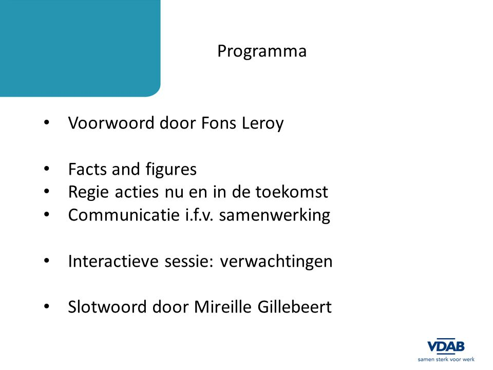 Voorwoord door Fons Leroy Facts and figures