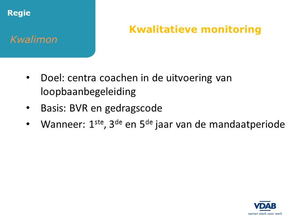 Doel: centra coachen in de uitvoering van loopbaanbegeleiding