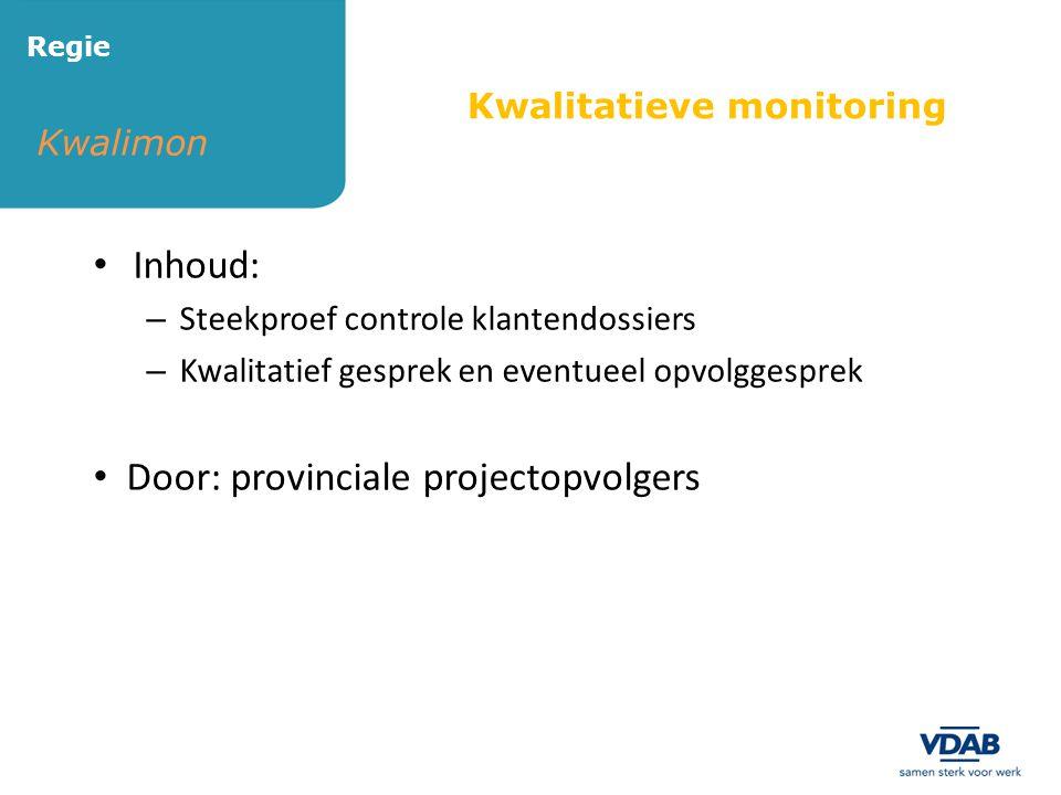 Door: provinciale projectopvolgers