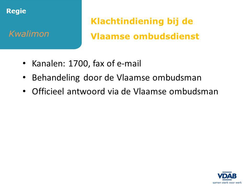Behandeling door de Vlaamse ombudsman