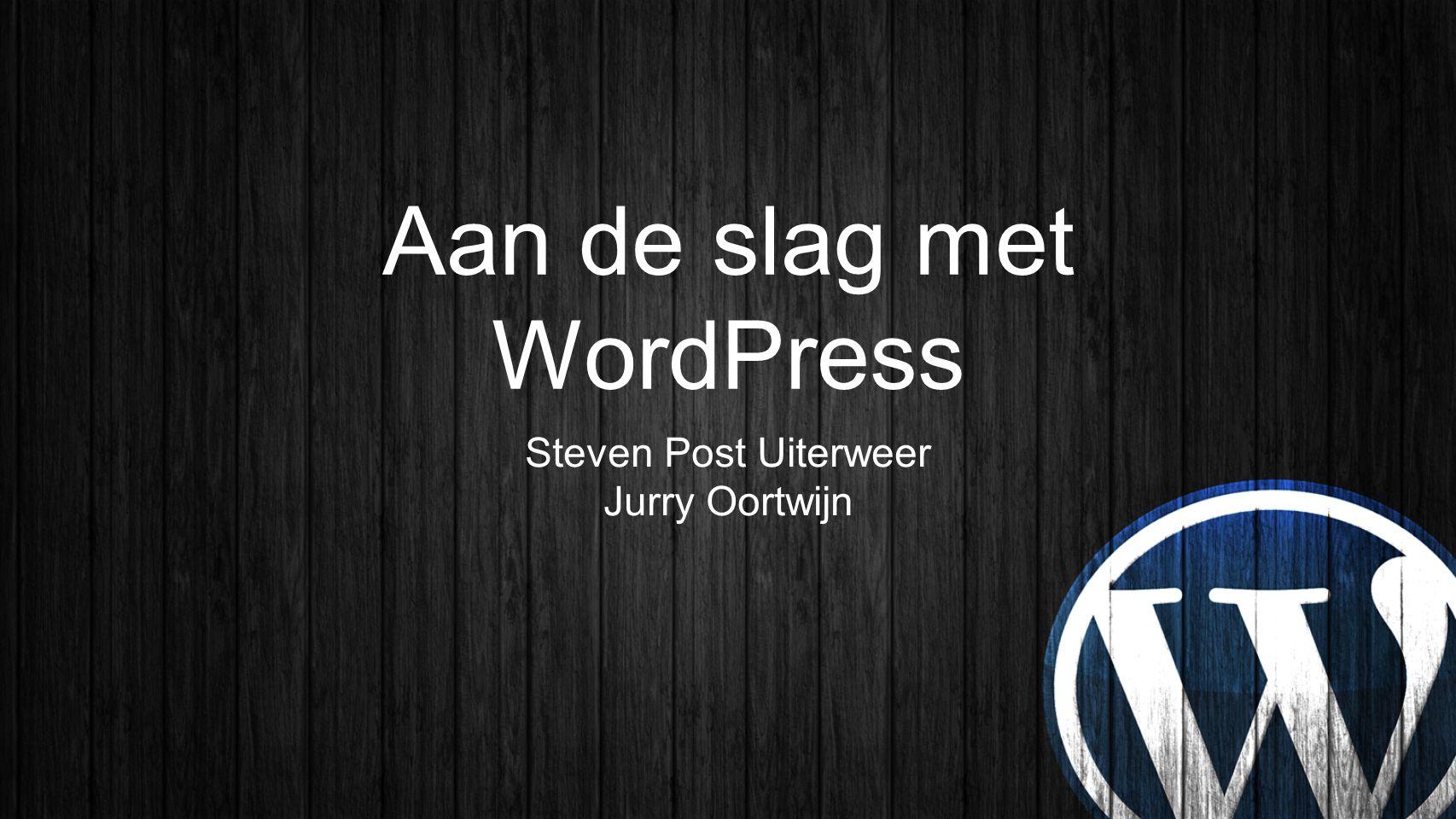 Aan de slag met WordPress
