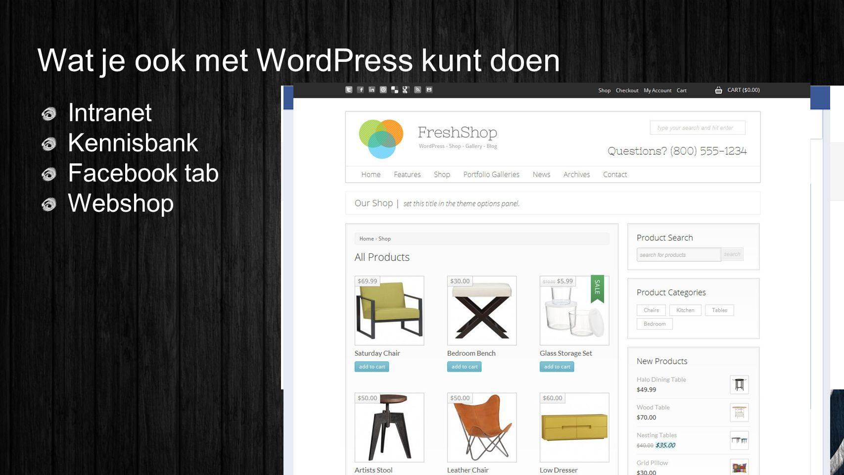 Wat je ook met WordPress kunt doen