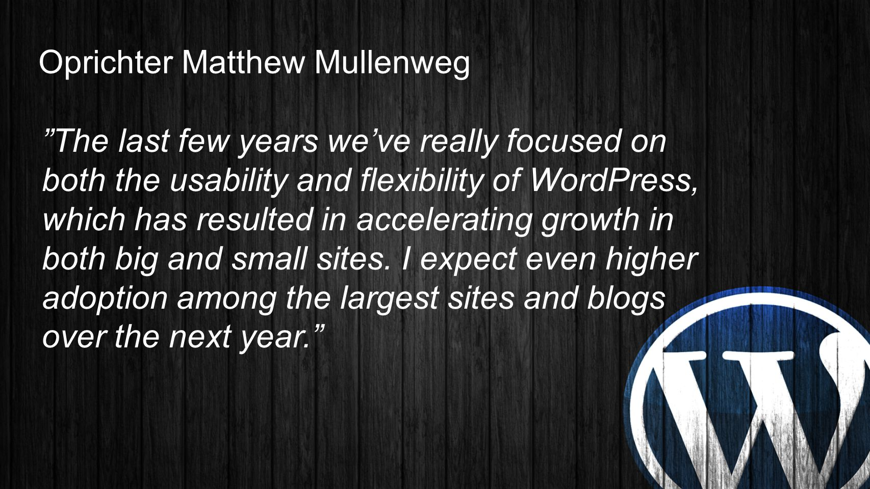Oprichter Matthew Mullenweg