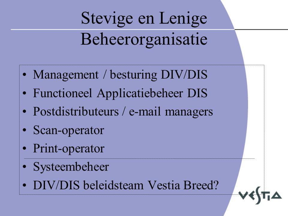Stevige en Lenige Beheerorganisatie