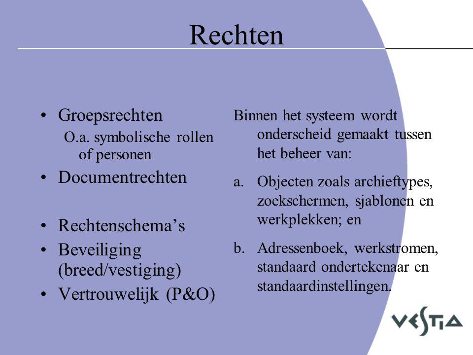 Rechten Groepsrechten Documentrechten Rechtenschema's