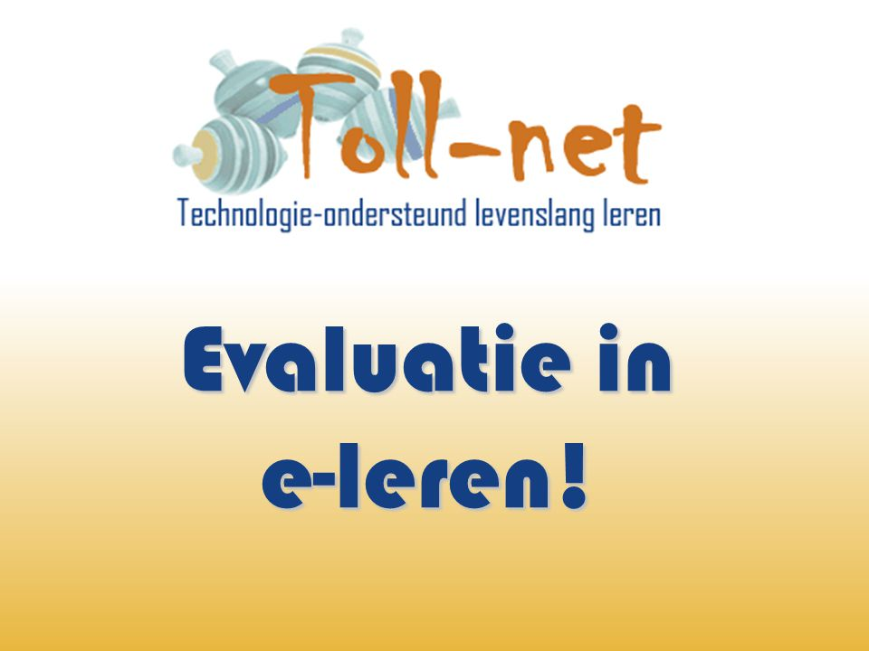 Evaluatie in e-leren!