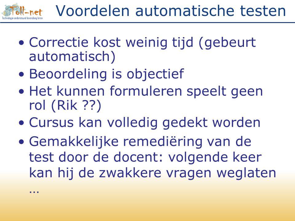 Voordelen automatische testen