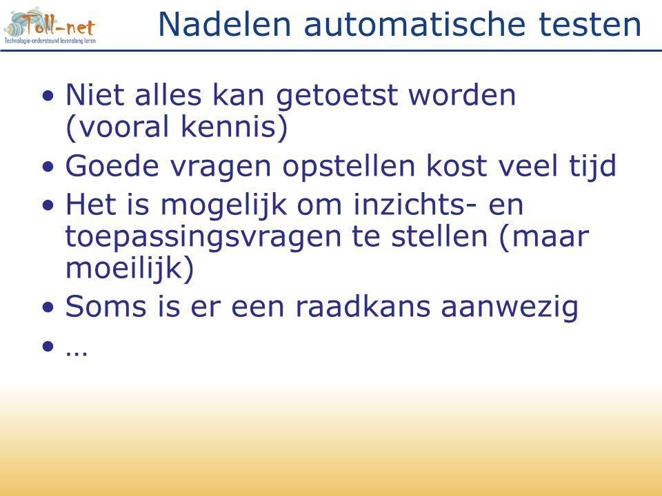 Nadelen automatische testen