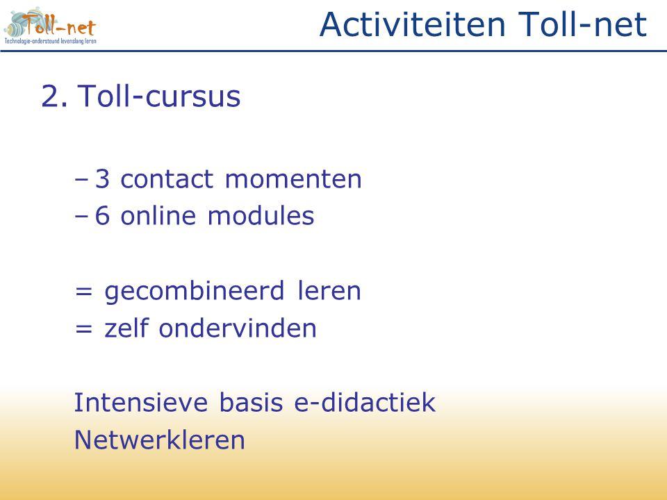 Activiteiten Toll-net
