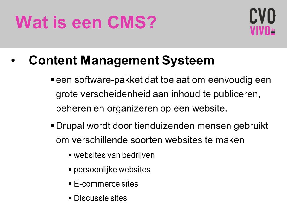 Wat is een CMS Content Management Systeem
