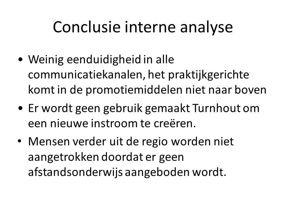 Conclusie interne analyse