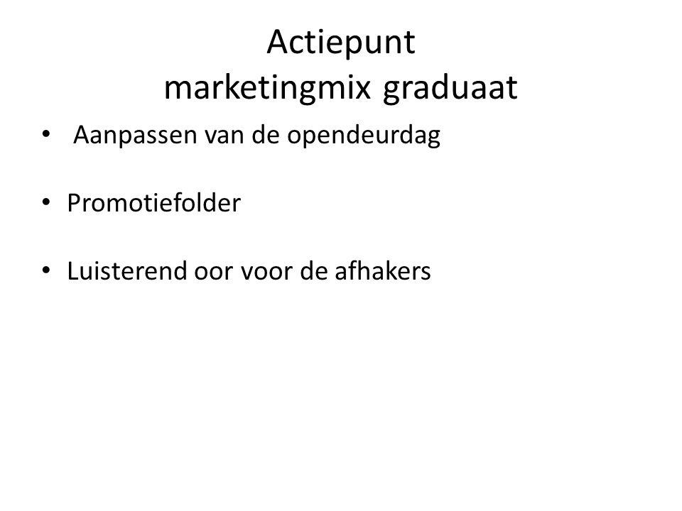 Actiepunt marketingmix graduaat