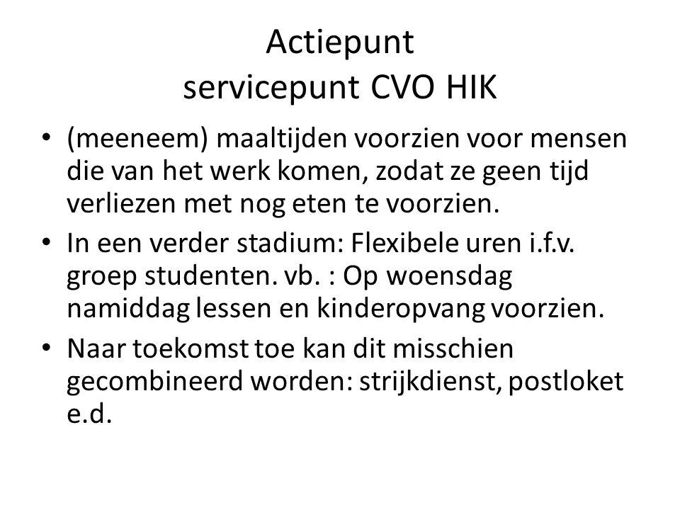 Actiepunt servicepunt CVO HIK