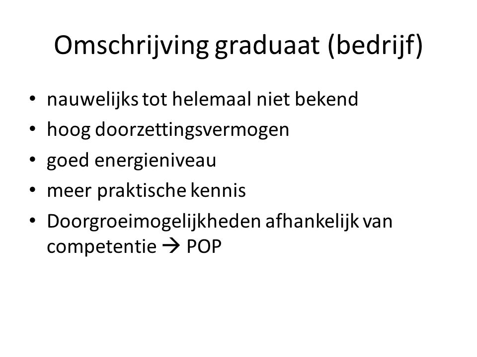 Omschrijving graduaat (bedrijf)