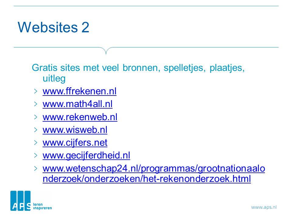 Websites 2 Gratis sites met veel bronnen, spelletjes, plaatjes, uitleg