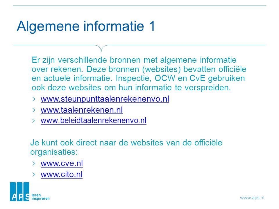 Algemene informatie 1