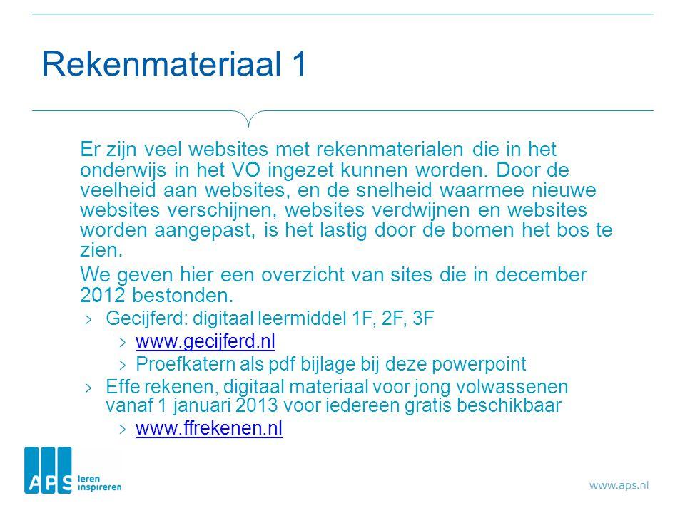 Rekenmateriaal 1