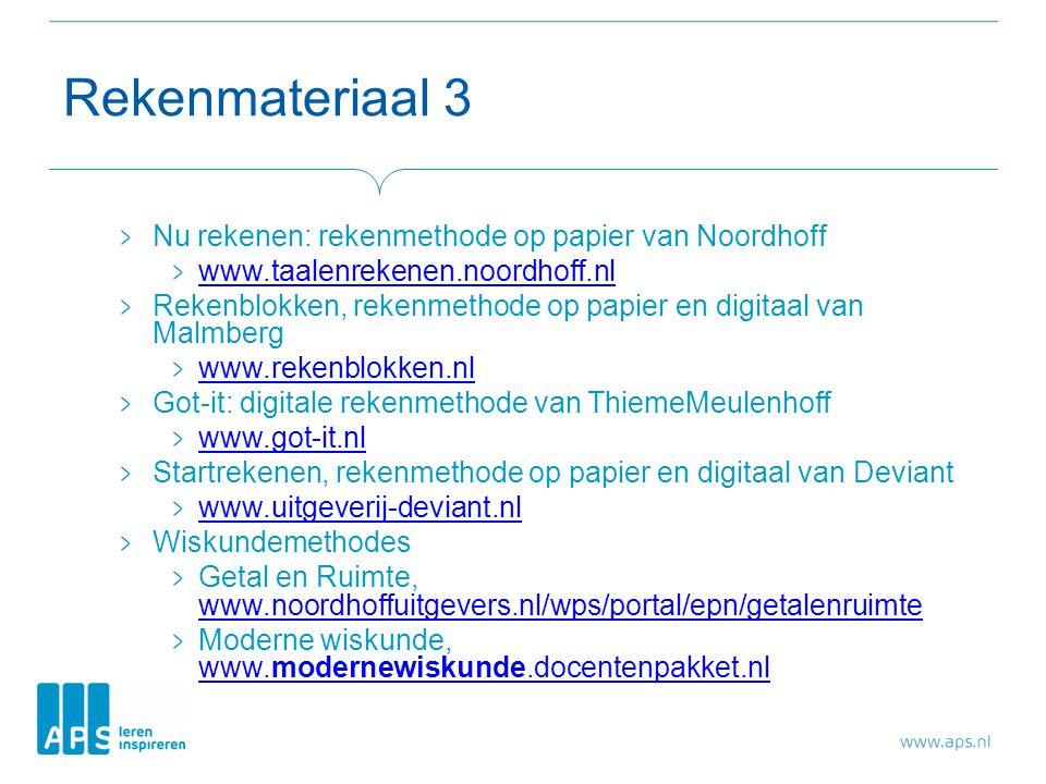 Rekenmateriaal 3 Nu rekenen: rekenmethode op papier van Noordhoff