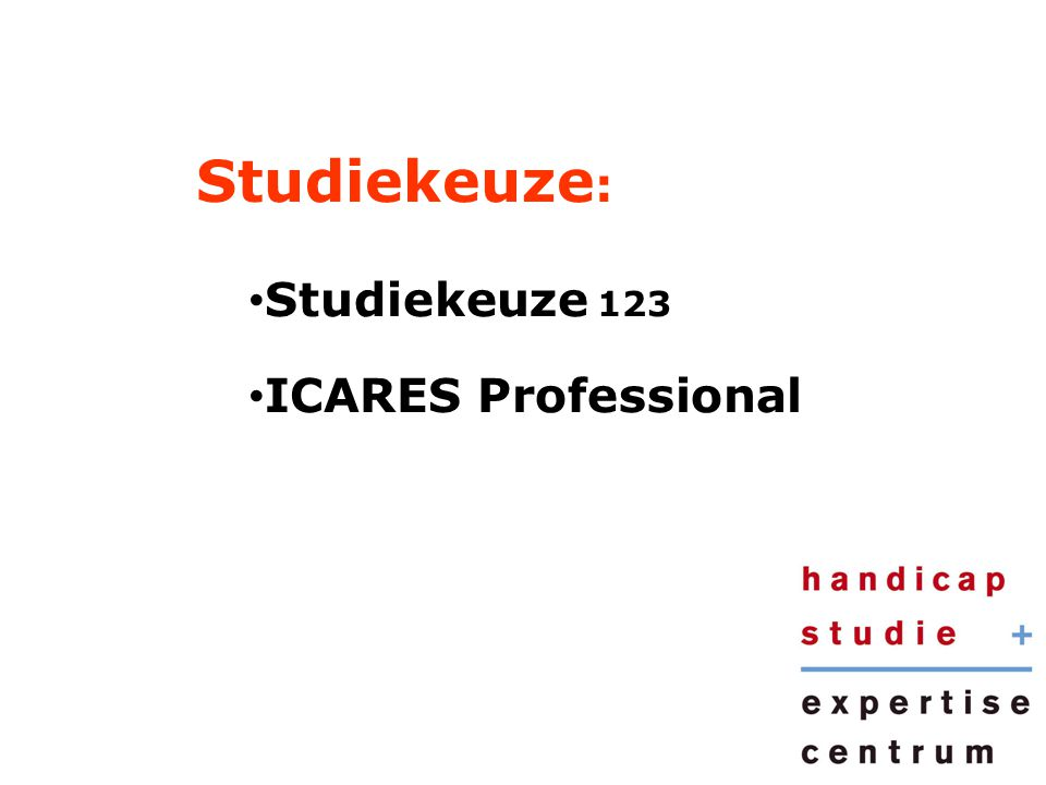 Studiekeuze: Studiekeuze 123 ICARES Professional
