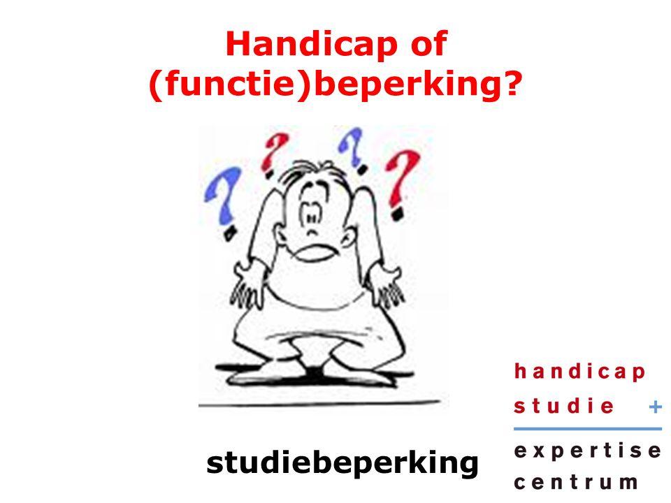 Handicap of (functie)beperking