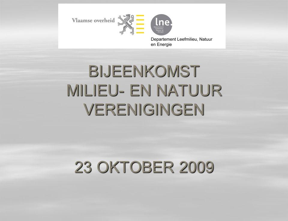 BIJEENKOMST MILIEU- EN NATUUR VERENIGINGEN 23 OKTOBER 2009