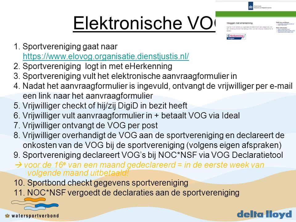 Elektronische VOG 1. Sportvereniging gaat naar
