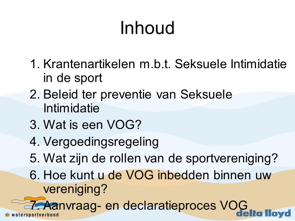 Inhoud Krantenartikelen m.b.t. Seksuele Intimidatie in de sport