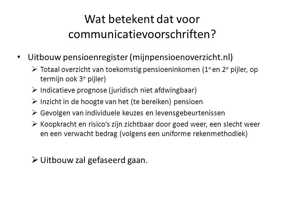 Wat betekent dat voor communicatievoorschriften