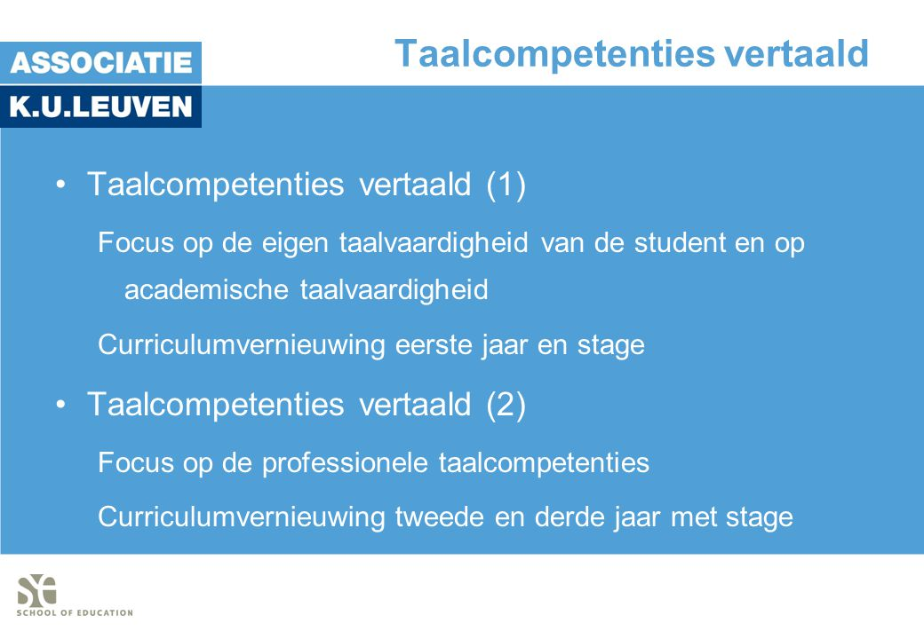 Taalcompetenties vertaald